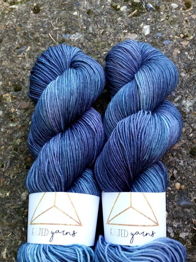 Storm Cloud on Woollard Fingering Weight Version | www.fatedyarns.co.uk